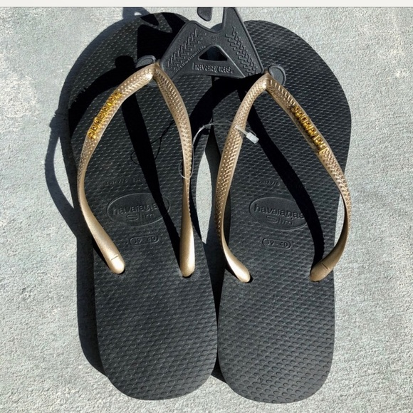 Havaianas Shoes | Black And Gold